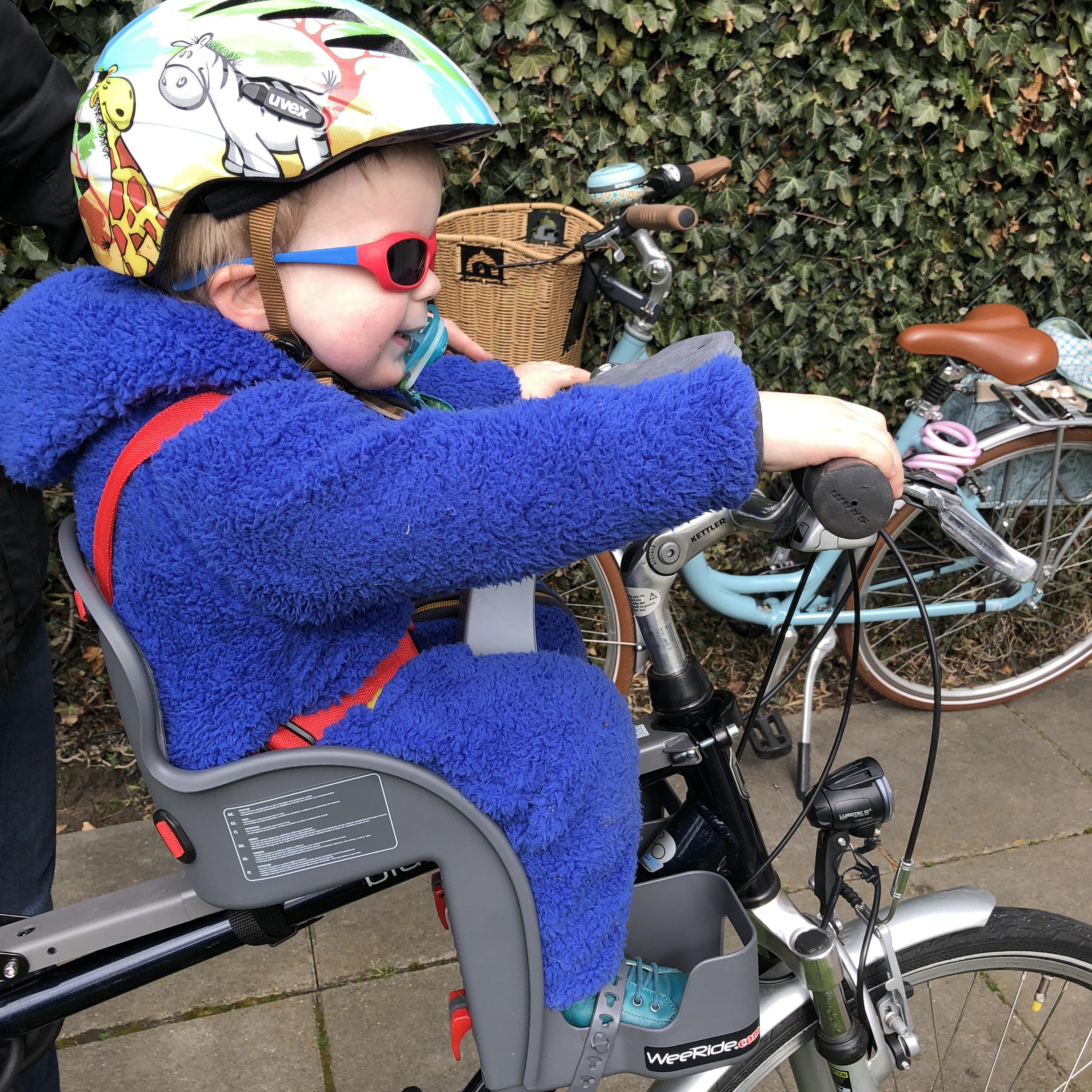 Fahrradfahren in Holland mit dem Fahrradsitz von Weeride
