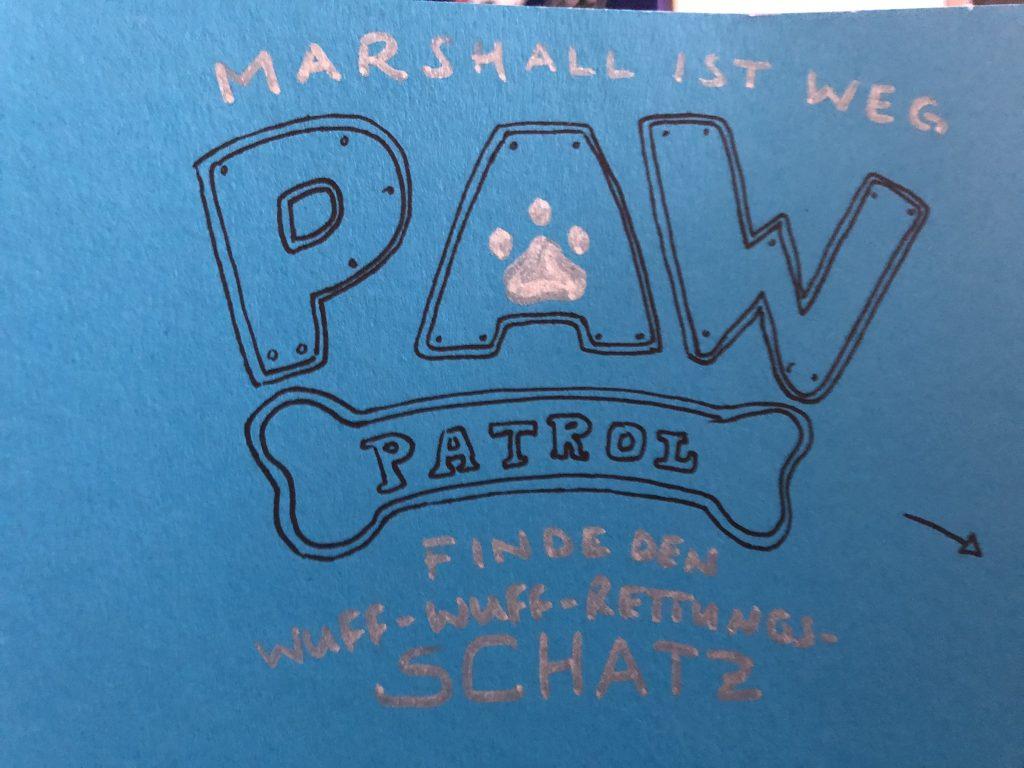 paw patrol einladungskarten basteln