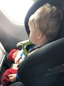 Britax Eclipce in airplane
