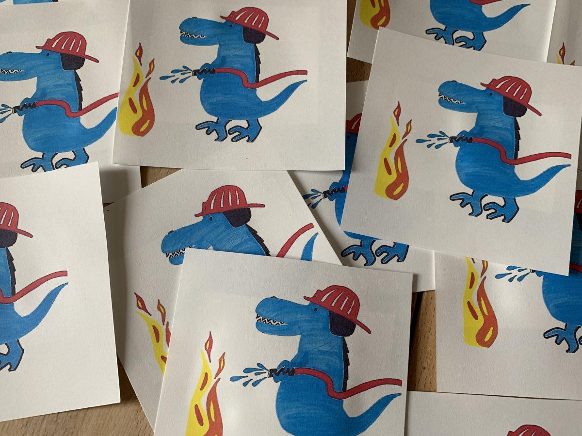 Dino-Feuerwehr-Party zum 4. Geburtstag