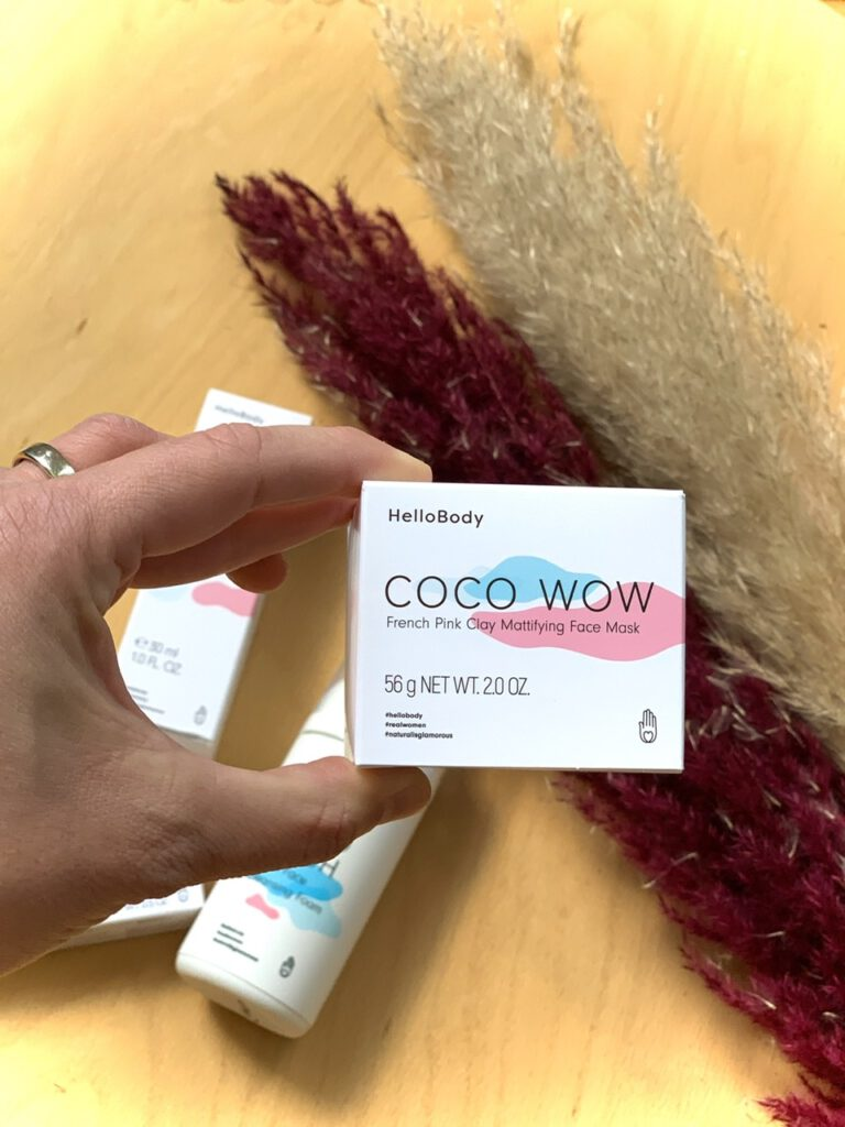 HelloBody Coco Wow French Pink Clay Mattifying Face Mask